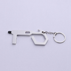 Brass Key Ring Door Opener Brass Hand Tool New Arrival Unique Portable Button Pusher Brass No Hand Hygenic Non Touch Key Ring Door Opener Tool With Stylus