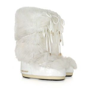 Wholesale Europe Fashion Long White Fur Top Sale Winter Snow Moon Boots For Women