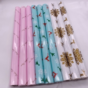 80gsm eco Custom Printed Beatiful Coated Paper for Christmas Gift Wrapping Paper