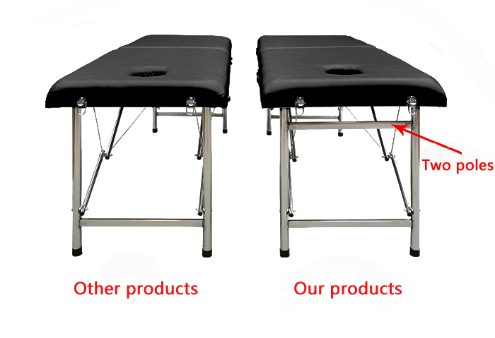 high quality Massage Table Cheap Massage Bed PU Portable Fold Height Adjustable spa Bed Salon physiotherapy bed