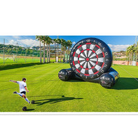 China inflatables inflatable sport game football dart, kick the football into the holes