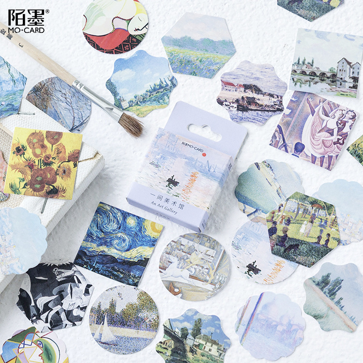 2020 Новинка креативная художественная галерея васи лента практичная бумага планировщик наклейки Декоративные Канцелярские ленты клейкая л...(Китай)