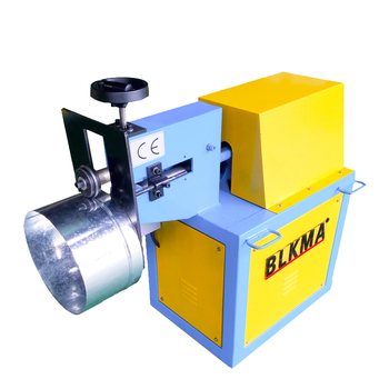 BLKMA brand air pipe/air duct tube round duct grooving machine price