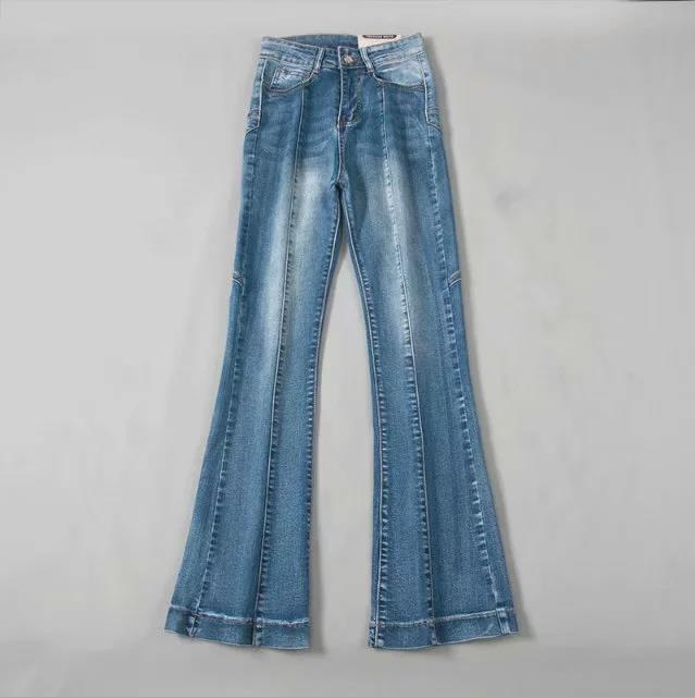 2020 Micro flare pants high waist skinny hip women jeans fashion slim fit stretchy jeans women