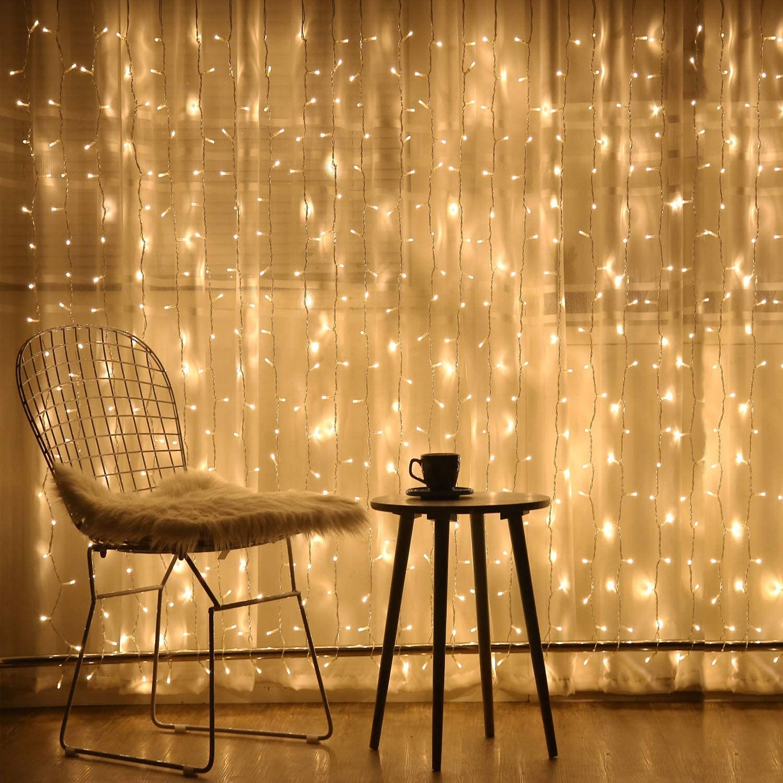 LED String Light 3*3m 300 LED Window Curtain String Light 110V/220V LED Curtain icicle lights