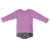 Baby clothes children long sleeve unisex patchwork scoop hem long line T-shirt with zip