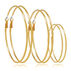 New product round 18k gold hoop big round earrings for women
