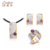 Italian Amethyst Handmade 925 Sterling Silver Guangzhou Jewelry Set with Gold Plated