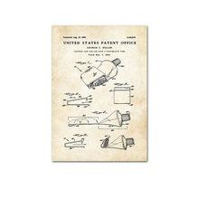 Промышленный стиль Зубная паста туалетная бумага, патент постер, винтажный холст с принтом, настенная живопись, Современное украшение для в...(Китай)