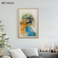 Macaw Parrot Animal Posters - Modern Home Decor Stretched and Floated Framed Art Prints Painting Wall Art