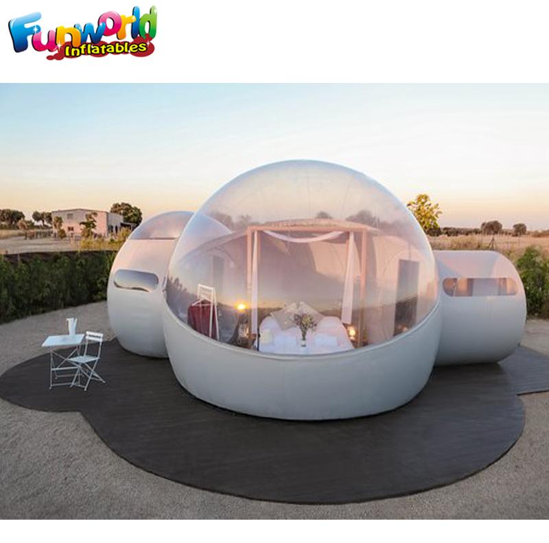 Al aire libre camping esferas hinchables burbujas tienda casa burbuja