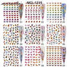 Nail Sticker 2020 Popular Holographic Butterfly Nail Art Sticker With 18 Designs