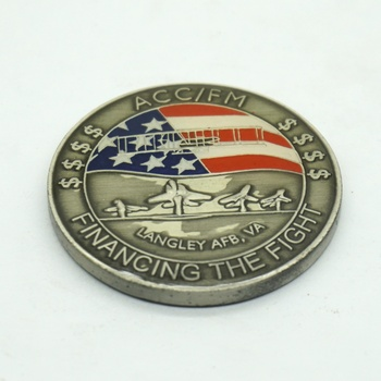 New design embossed metal challenge coin for souvenir