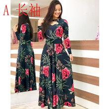 Женское длинное платье с цветочным принтом, черное повседневное винтажное платье с коротким рукавом на весну-лето 2020(Китай)
