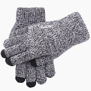 Super Thicken Winter snowing days screen print touch gloves for touch screen
