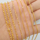 Long time to fade Vietnam sand gold necklace female transfer beads 999 pure gold 24k jewelry box water wave clavicle chain