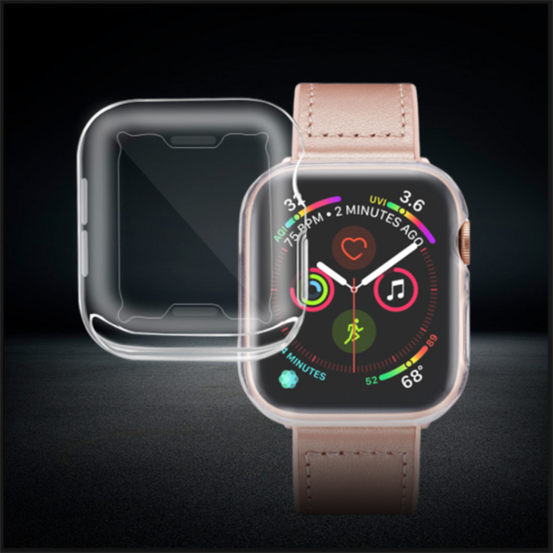 DFIFAN Top selling protective for apple watch case 44mm cover clear transparent ultra thin soft tpu case 38mm 42mm 40mm 44mm, Crystal clear