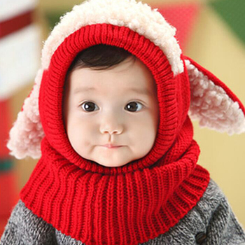 Children Hats Fall Winter Cute Rabbit Ears Baby Keep Warm Knitted Hat