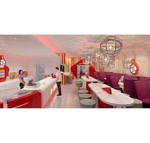 Mall Kiosk Sweet Shop Dessert Display Juice Kiosk Design