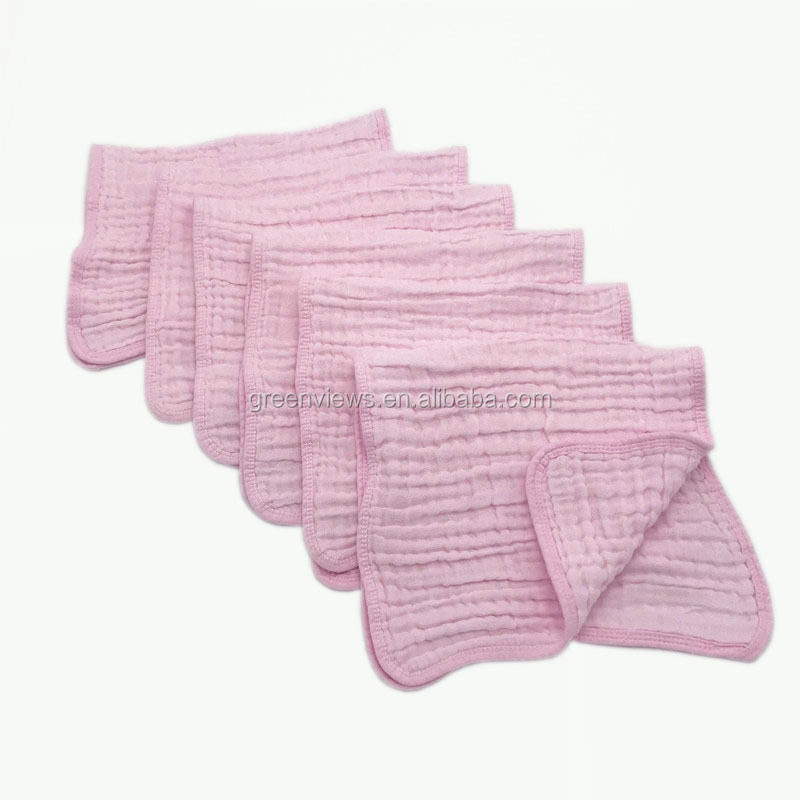 Muslin Burp Cloths Super Absorbent Organic 100% Cotton Soft Extra Thick Large Burp Cloths