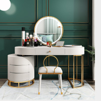 European makeup table bedroom dressing table with mirror and stool modern drawer storage dressing table