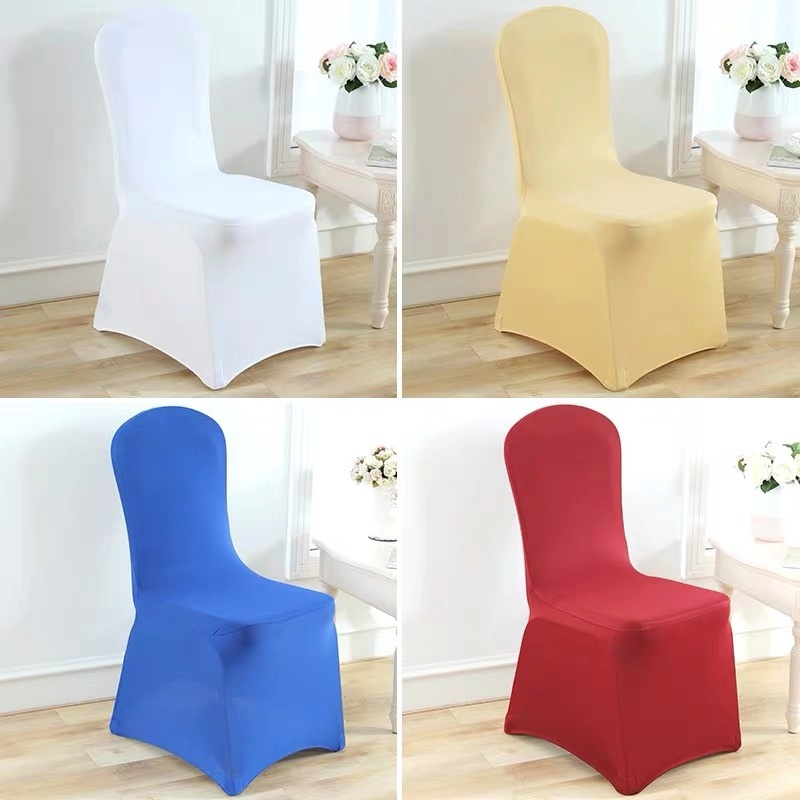 Factory Directly Sale Cheaper 160gsm Custom Hotel Wedding Banquet Spandex Fabric Lycra Chair Cover