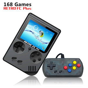 Factory Outlet Wholesale Price 8 Bit Handheld 168 built-in Games Retro FC  Plus Video Game Console for Children's Gift