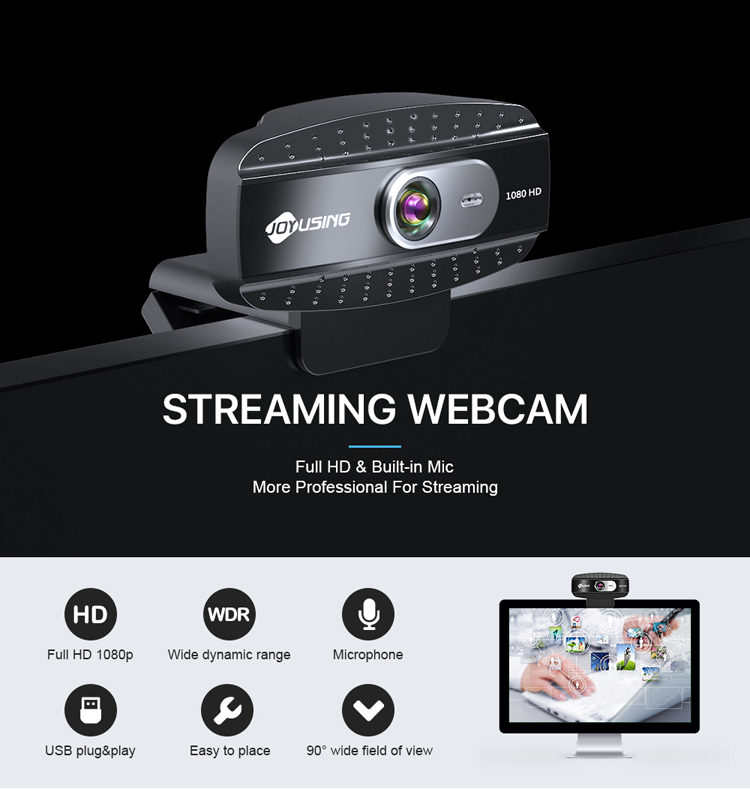 New Web Camera Free Driver Acoustic Sound Norm Webcam 1080P