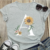 2020 Summer New Fashion Women Shirt Daisy Print Multicolor T-shirt