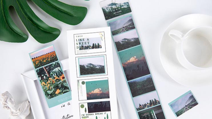 2020 Hot Verkoop Creative Leuke Washi Tape, Factory Direct Selling Fantasy Vakantie Tijd Geheugen Washi Tap