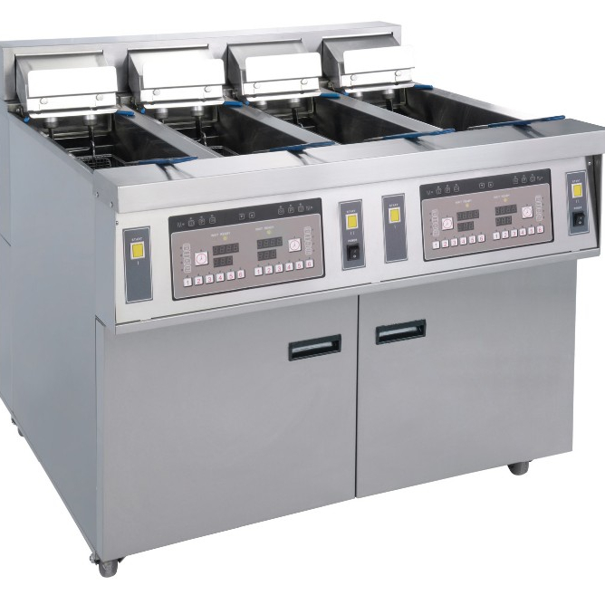 commercial induction fryer/four-cylinder constant temperature open deep fryer/<strong>chicken</strong> <strong>processing</strong> machine for restaurant sale