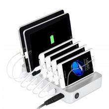 Multi 6usb Port 5V 10A 50W Universal USB Port Charger Power Adapter <span class=keywords><strong>Desktop</strong></span> Cepat Smart Pengisian Stasiun untuk ponsel 5v10a