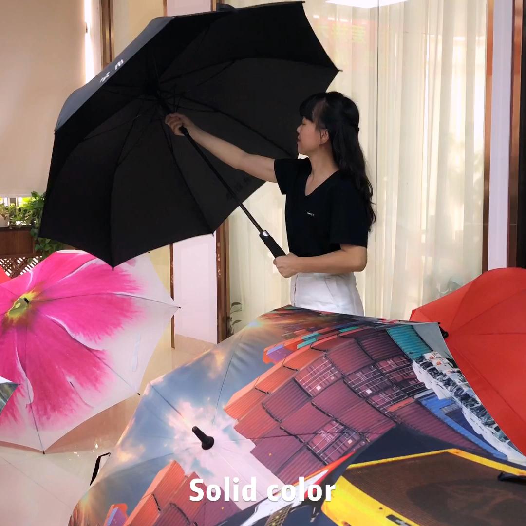 OEM зонт для гольфа с принтом логотипа для рекламной рекламы бренда