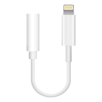 High Quality Material White 3.5Mm Headphone Jack Adapter