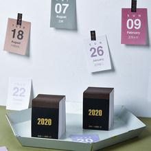 Мини-календарь 2020 Настольный календарь наклейка офисная работа учебный график обычный планировщик H99F(Китай)
