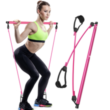 Einstellbar Hause Tragbare <span class=keywords><strong>Pilates</strong></span> <span class=keywords><strong>Bar</strong></span> Übung Widerstand Band Yoga Stick Toning <span class=keywords><strong>Bar</strong></span>