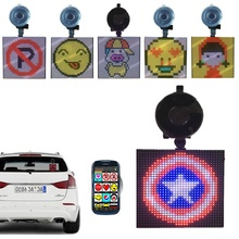 P4-32x32 Fun Screen Emojis Grafische Animatie Gif Bluetooth Auto <span class=keywords><strong>Display</strong></span> DIY Tekening Emoties Drop-verzending LED <span class=keywords><strong>Display</strong></span> Panel