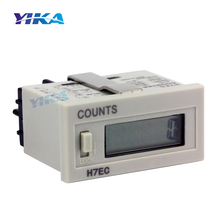 H7EC Totalizer Without Voltage 6-Digit LCD Display Digital Electrical Electronic Count  Counter