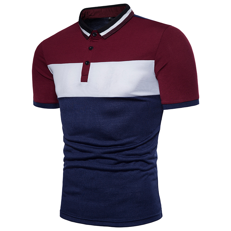 Summer Training Polyester jersey matching Uniform Men Polo T-shirts