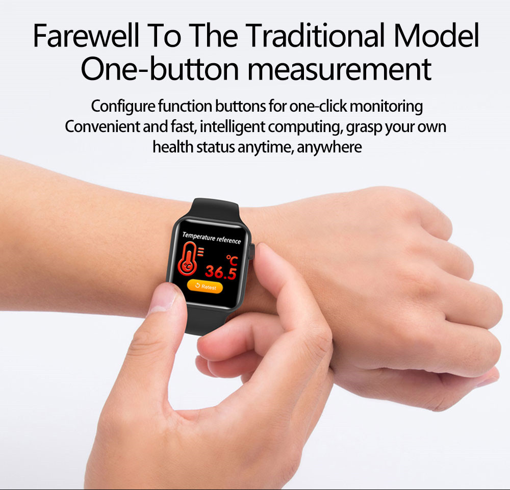 Body Temperature Smart Watch W58 pro Blood Pressure Monitor Healthy Smart Watch Bracelet