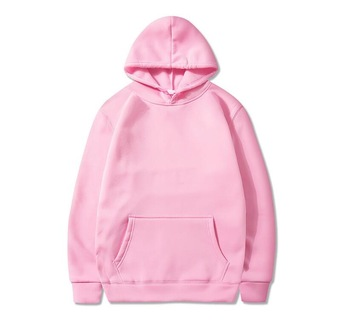 2019 High Quality Cotton Pink Fleece Custom Logo Hoodie