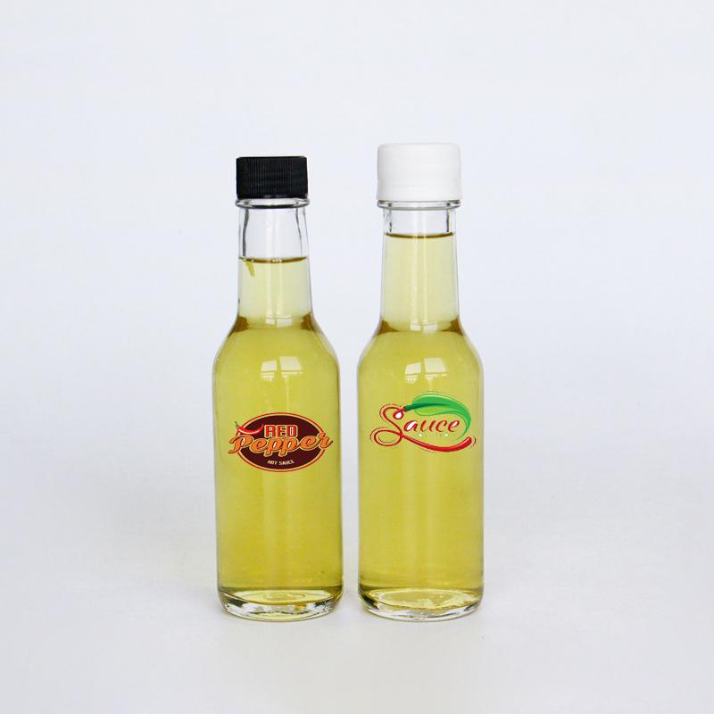 Grosir Premium Rapi Plastik Kecil Screw Cap 150 Ml Saus Panas Jelas Vnegar Kaca 5 Oz Pusing Botol