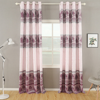 Home Decor Luxury Readymade Jacquard Blackout Curtain For Living Room