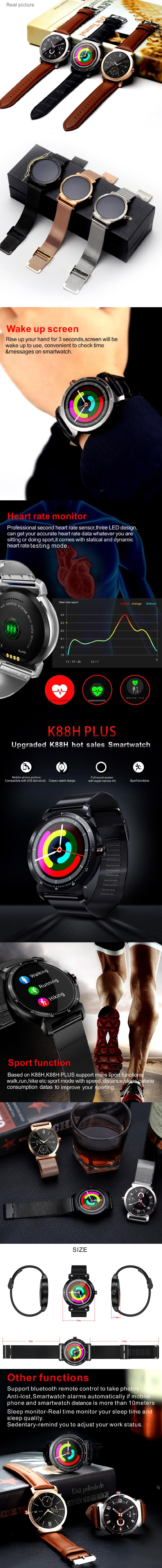 Lowest Price smart watch with stainless strap change dial calling feature