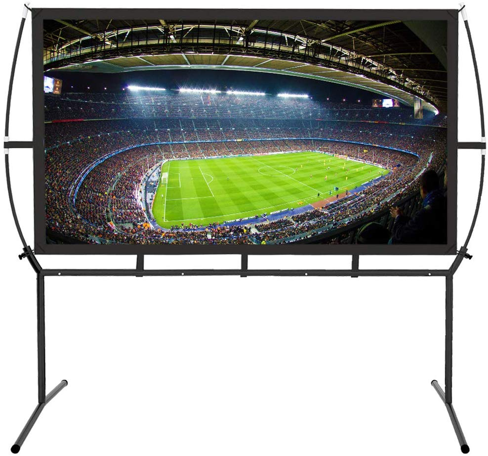 <strong>Portable</strong> Fast Fold Outdoor Projector <strong>Screen</strong> with Stand, Indoor and Outdoor Movie <strong>Screen</strong>