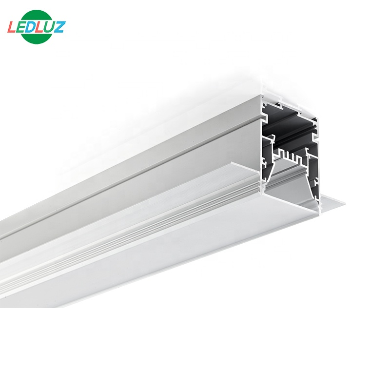 60mm Wide Big Size Gypsum Plaster In Aluminum LED Profile For Architectural Lighting