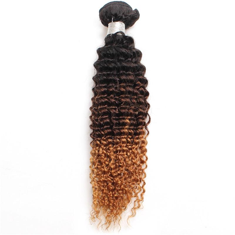 Brasile Capelli Crespi Ricci di Colore di Pendenza Reale Dei Capelli Umani Del Tessuto 1B/4/27 # Parrucca Vendite Dirette Della Fabbrica