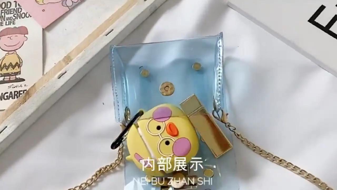 어린이 지우기 지갑 투명 PVC 핸드백 여자 미니 젤리 가방 작은 지우기 지갑 핸드백 젤리 클러치 지갑