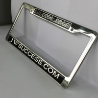 ss 3d embossed license plate frame custom logo print car number plate frame
