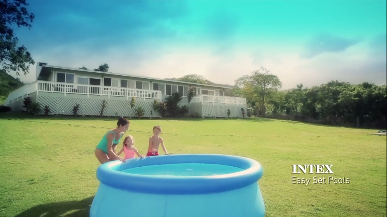 INTEX 28120 10FT X 30IN Mudah Set Inflatable Di Atas Tanah Kolam Renang Keluarga Kolam Renang